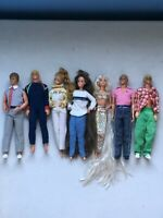 Mattel Barbie Lot Vintage 1966-1968 Doll Collection With Accessories