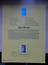 USA Souvenir Page #9913 1999 22 April Ayn Rand #3308