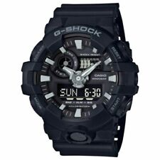 Casio G-Shock GA-700-1B Black Men's Wristwatch with White LED illumination