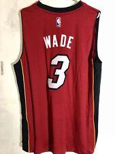 Adidas Swingman 2015-16 NBA Jersey Miami Heat Dwayne Wade Red sz XL