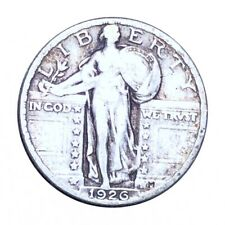 1926 Standing Liberty Quarter, Nice Features Silver 25c Collectible Coin No Res!