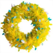 Yellow Spring Tinsel Wreath 20 Inches