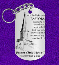 Wonderful Gift for a Pastor, Personalized with NAME and Church. Bible Verse