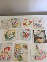 Vintage Wedding Bridal Shower Gift Cards 1950s LOT OF 11 + envelopes Small