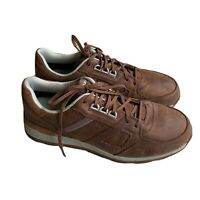 Caterpillar Woodward Steel Toe Brown Leather Work Shoes Sneakers Sz 14 P91004