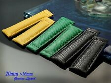 Genuine Lizard skin Band Strap Bracelet (FITS) Rolex Daytona 20mm x 16mm