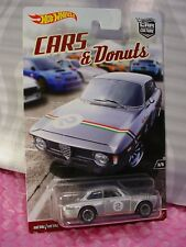 2017 CARS & Donuts ALFA ROMEO GIULIA SPRINT GTA #3☆Silver☆Hot Wheels Car Culture
