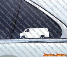 2X Lowered car stickers - for Chevrolet Van ChevyVan (1971–1996) | classic van