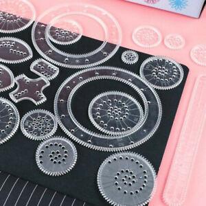 22 Pcs 1Set Spirograph Geometric Ruler Drafting Tools Stationery Drawing Toys