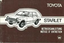TOYOTA  Starlet  P7 Betriebsanleitung 1987 Bedienungsanleitung Handbuch  BA