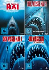 DER WEISSE HAI Jaws Teil 1 2 3 4  Complete  4 DVD Haie Monster Collection NEU