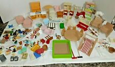 Vintage Epoch Calico Critters Sylvanian Families BIG HOUSE Furniture & MORE
