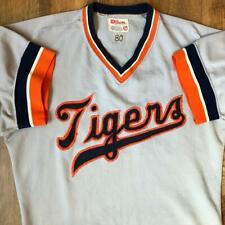 Gamer VTG 80s Wilson Detroit Tigers Lou Whitaker #1 Game Worn Baseball Jersey 40