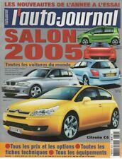L'AUTO JOURNAL 2004 651 SALON DE L'AUTOMOBILE 2005 TOUTES LES VOITURES DU MONDE