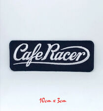 Vintage British Cafe Racer black Iron on/Sew on Embroidered Patch #140