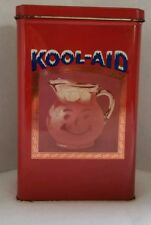 Vintage KOOL-AID Red Tin with 3 Packets 1990's