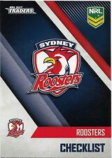 2017 NRL Traders Base Card (131) ROOSTERS Check List