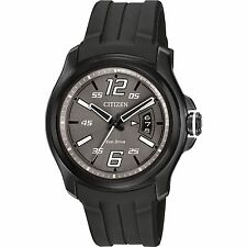 Citizen Eco-Drive Men's AW1354-15H Black Polyurethane Band Watch
