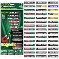 Ultimate Magnetic TOOLBOX LABELS fits all steel boxes tool chest & cabinets