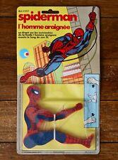 Vintage 1979 Spiderman L'homme araignée MOC blister neuf France no Mego Goldorak