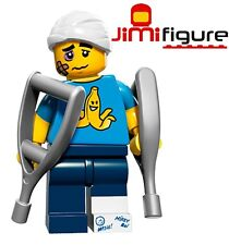 NEW LEGO Minifigures Clumsy Guy Series 15 71011 Crutches Minifigure Mini Figure
