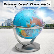 360° Rotating World Desktop Globe Earth Ocean Map Stand Educational Home New