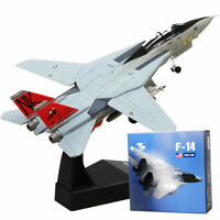 F14 1/100 Diecast Military Airplane Tomcat Alloy Fighter Aircraft Model Toy Gift