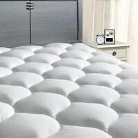 Pillow Top Mattress Cover King Size Bed Topper Pad Soft Hypoallergenic Cooling