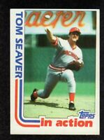 "1982 Topps 31 Tom Seaver In Action Cincinnati Reds HOF Baseball Card ""mrp"" EX/MT"