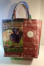 """Large Grocery Tote Reusable 16""""X16"""" Up Cycle Chick Food Shopping Bag"""