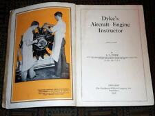 SCARCE: 1929 Dyke's Aircraft Engine Instructor fold-outs early aviation