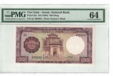 North Vietnam 500 Dong 1964 With Tab Promissory Not Listed War