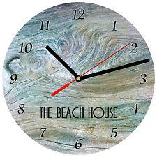 "8"" WALL CLOCK - Beach 3 The House Ocean Sea Vacation Kitchen Bathoom Bedroom"