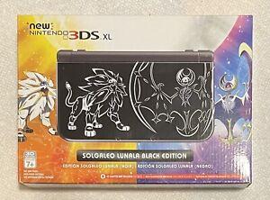 Nintendo New Nintendo 3DS XL SOLGALEO LUNALA Black Edition Gaming System MISB