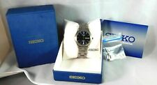 Seiko Titanium 7N43-0AB0 Blue Dial Watch With Box Instructions And Extra Link