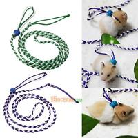 Pet Hamster Cage Leash Adjustable Rat Ferret Squirrel Mouse Harness Rope Leash