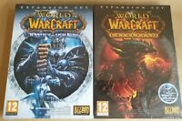 World of Warcraft Cataclysm + Lich King Expansion Pack New Sealed physical copy