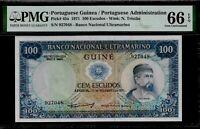 Portuguese Guinea 100 Escudos 1971 PMG 66 EPQ UNC Pick #45a