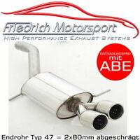 FRIEDRICH MOTORSPORT EDELSTAHL SPORTAUSPUFF VW PASSAT VARIANT 3C B6  2x80mm