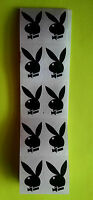 ~~10~~ AUTHENTIC PLAYBOY BUNNY W/ BOW TIE TANNING BODY STICKERS TANTOOS BLACK