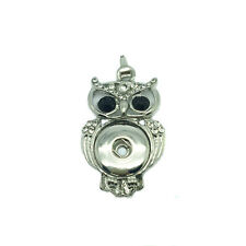 NEW White Crystal Alloy Pendant for Fit Noosa Necklace Snap Chunk Button DR188