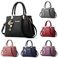 UK Women's Leather Handbag Tote Shoulder Bag Messenger Crossbody Travel Tote !