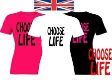 Choose Life 80s retro ladies hot fashion low price  sizes xs to 2x the shirt