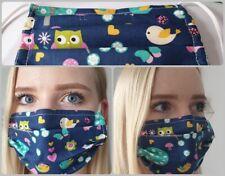 Damen Herren Behelfsmaske Mund Nasen Maske Stoffmaske Draht Lehrer Eulen Kita