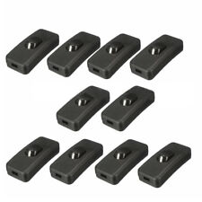 10 Pcs AC Max 110~250V 2A In-line ON/OFF Table Lamp Desk Bed Light Cord Switch