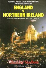 England v Northern Ireland - British Championship - 1980