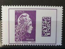 Marianne l'engagée  violet à validité permanente Monde