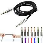 3,5mm Schoene Stereo Audio AUX Klinke Kabel Stecker für Auto MP3  Laptop Handy