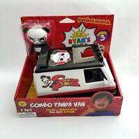Ryan's World Combo Panda Van Pull-Back Action Toy + Combo Panda Figure Series 3