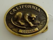 Vintage Brass California Cougar Belt Buckle Heritage Mint 1978